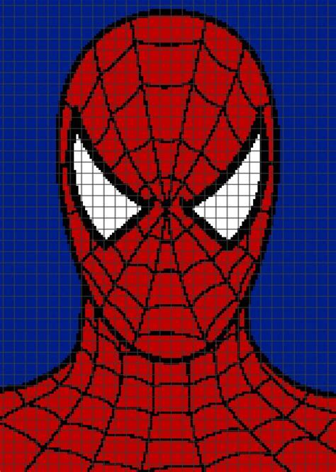 spiderman hair pattern spiderman graph and row by row written crochet