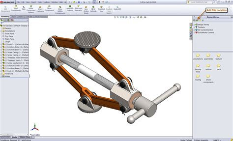 solidworks tutorial parts and assemblies using the solidworks design library for quick access to files