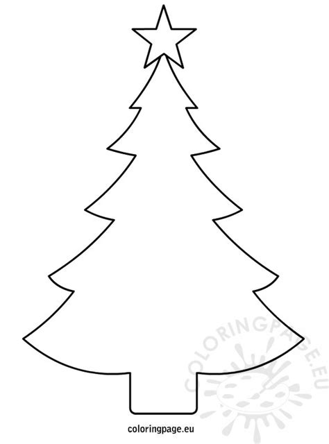 christmas tree template printable coloring page