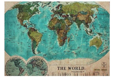 Vintage World Map Rug The Places We Ll Go Quot 1 World Map Rug