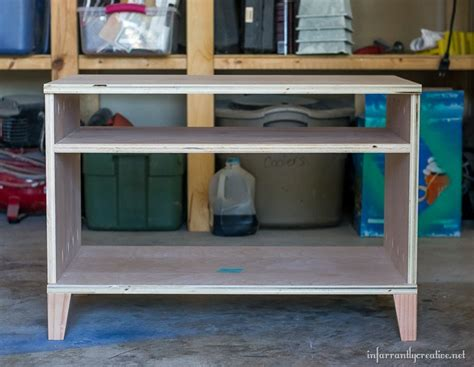 diy media cabinet diy media cabinet with free plans infarrantly creative