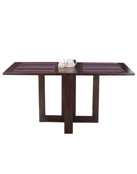 folding dining tables buy fabindia sheesham folding dining table online