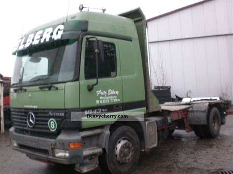 mega truck chassis mercedes benz 1843 mega 2001 chassis truck photo and specs