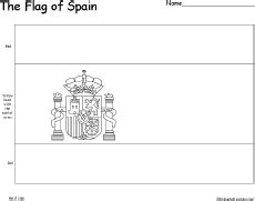 spain flag coloring page flag of spain enchantedlearning