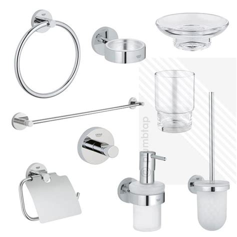 grohe bathroom accessories uk grohe essentials bathroom collection chrome accessories