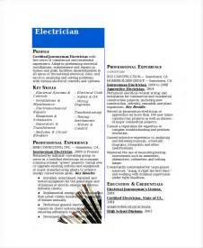 Resume For Journeyman Electrician by Electrician Resume Template 5 Free Word Excel Pdf Documents Free Premium Templates
