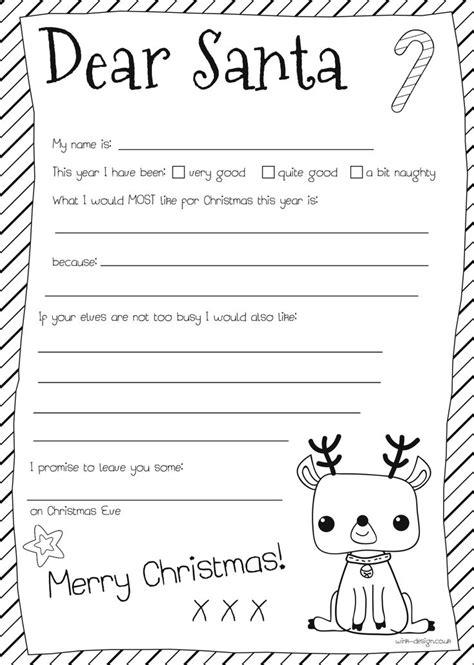 christmas list template free printable letter to santa template