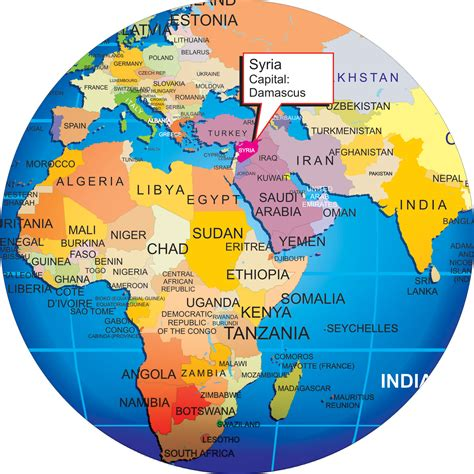 where is syria on the map where is syria enlarge view