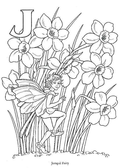 flower fairies coloring pages coloring home