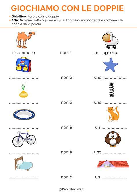 parole con lettere doppie schede didattiche sulle doppie con esercizi da stare