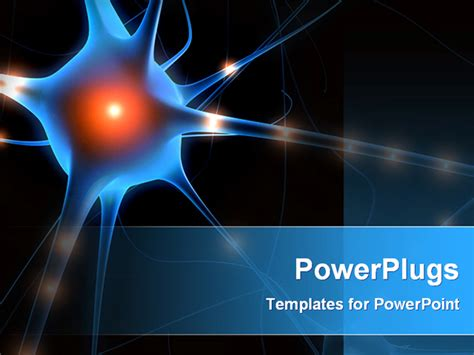 cell powerpoint template powerpoint template a nerve cell with blackish background