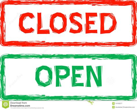 open closed sign template open and closed signs for retail in vector royalty free
