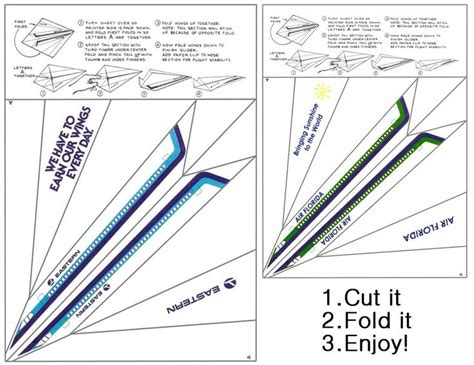 printable instructions paper airplane 5 best images of paper airplane printable template sheets