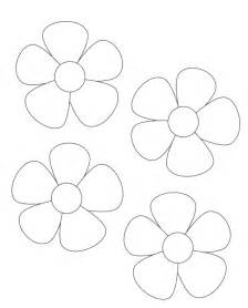 big flower template printable flower template cut out az coloring pages