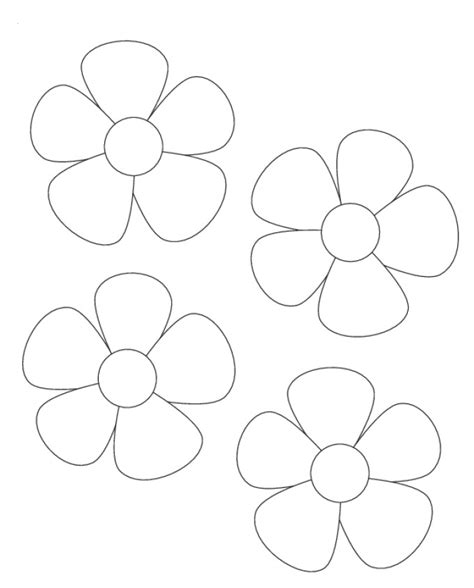simple flower template az coloring pages