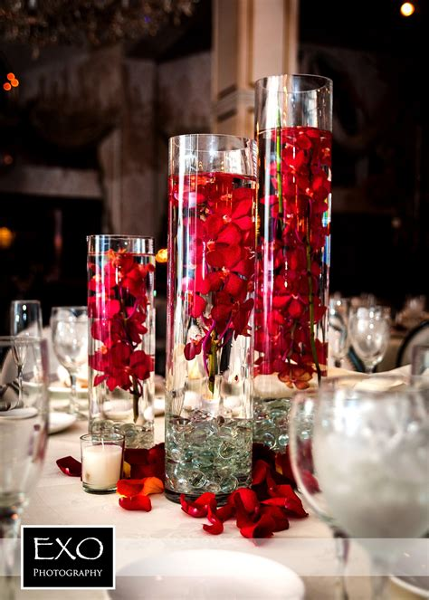 winter wedding centerpiece wedding reception glass wedding