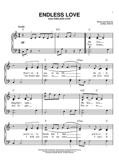 tutorial piano endless love endless love sheet music music for piano and more