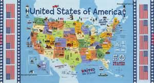us map fabric usa map fabric panel us map fabric united states map fabric