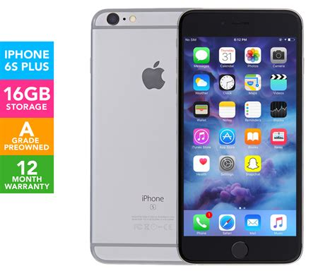 apple iphone 6s plus 16gb pre owned space grey great daily deals at australia s favourite