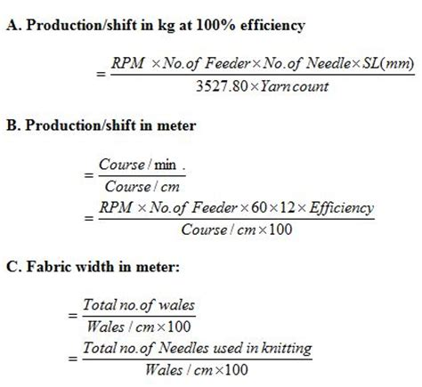 increase calculator knitting a report on industrial attachment at fariha knit tex ltd