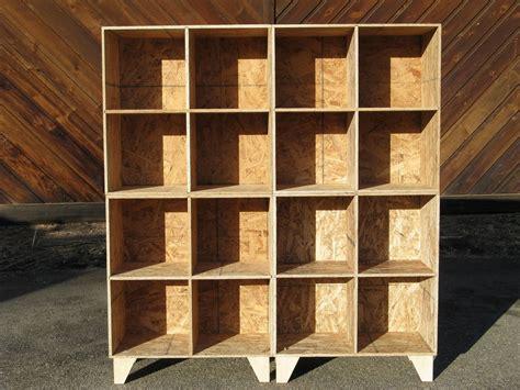custom  osb cubby bookcase storage unfinished