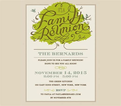reunion invitation design vector 20 family reunion invitation designs psd vector eps
