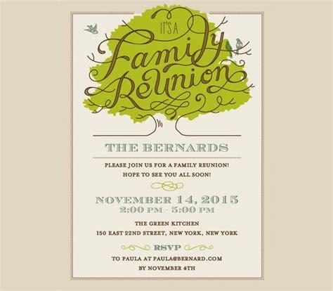 20 family reunion invitation designs psd vector eps