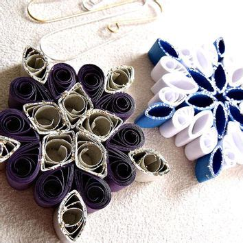 Handmade Paper Snowflakes - handmade paper quilled card from