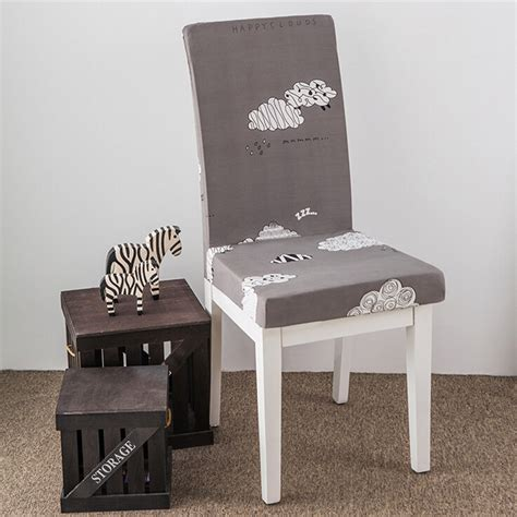 removable elastic stretch slipcovers short dining room chair seat cover decor ebay