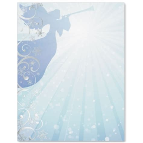 printable angel stationery holy angel specialty border paper paperdirect
