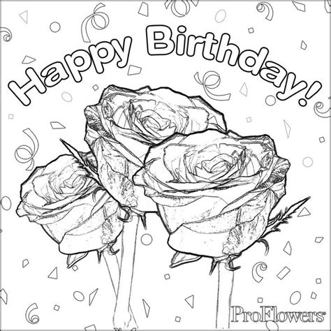 coloring pages for adults birthday 58 best happy birthday coloring pages images on pinterest