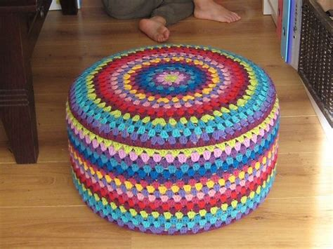 40 Best Images About Crochet Stools Ottoman Covers On Ottoman Cover Pattern