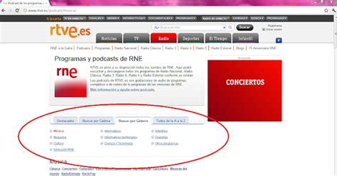emisoras radio españa lista podcast