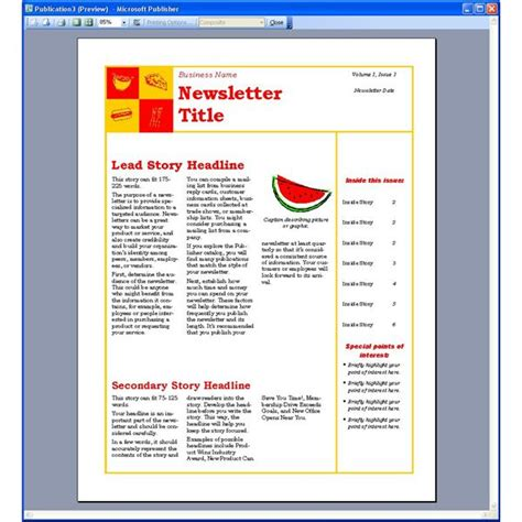 dynamic reusable newsletter template defined