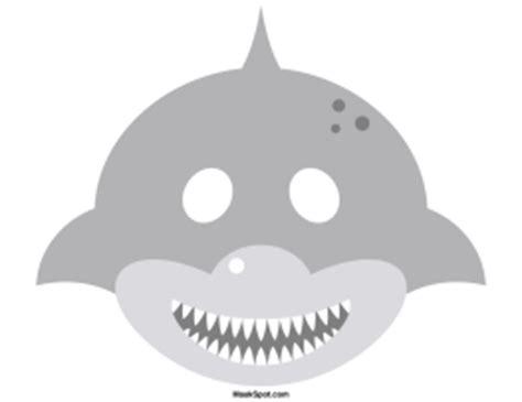 printable shark mask