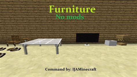 Minecraft Command Block Living Room Furnitures Furniture In Minecraft No Mods Only One Command Block
