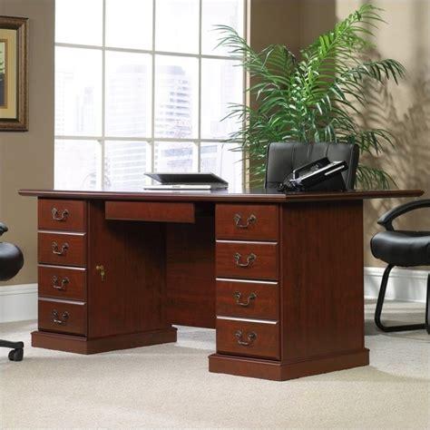 sauder heritage hill executive desk sauder heritage hill large executive desk 109843