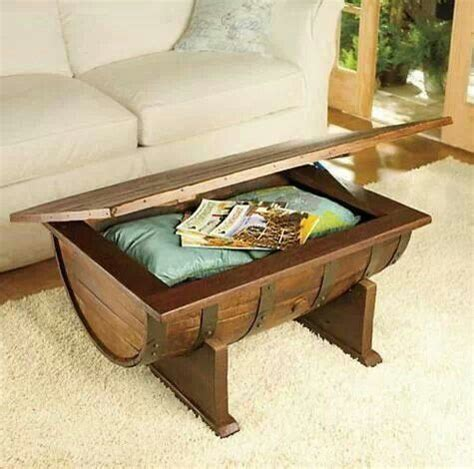 whiskey half barrel coffee table ideas for the house