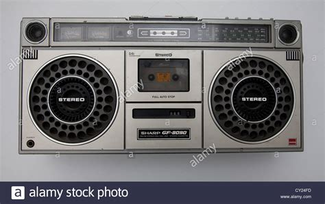 cassette radio player sharp radio cassette player stock photo royalty free