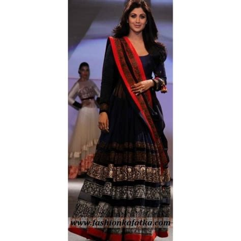floor length anarkali lehenga shopping buy shilpa shetty styles blue floor length anarkali