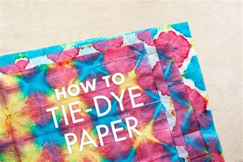 Tie Dye Paper Craft - diy tie dye tissue paper crafts