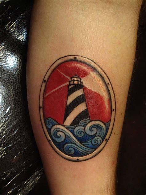 tattoo college school traditional nautic ink lighthouse