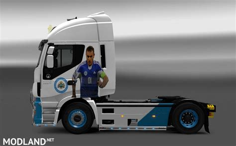 One Nation Team Topi Trucker Polyflex san marino national football team for iveco hiway mod for ets 2