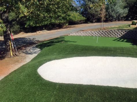 Golf Backyard Artificial Grass Sacramento California Putting Greens