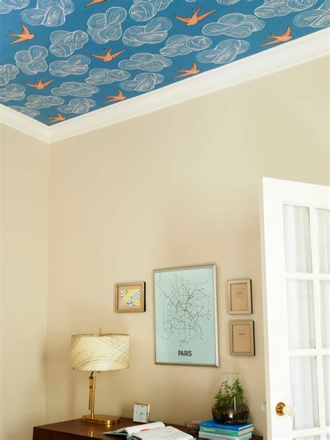 Wallpapers For Ceiling how to wallpaper a ceiling hgtv