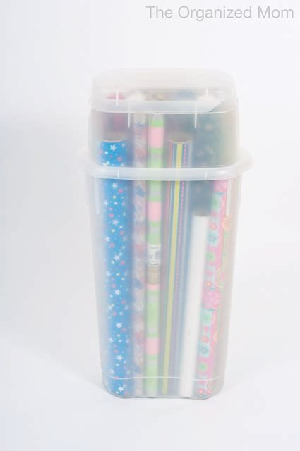 Rubbermaid Gift Wrap Storage Container - 1000 ideas about organize wrapping papers on pinterest wrapping paper station gifts for boss