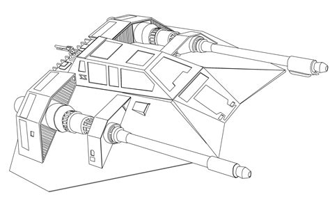 Star Wars Snowspeeder Coloring Page | more line drawings for everyday andrewkellett94