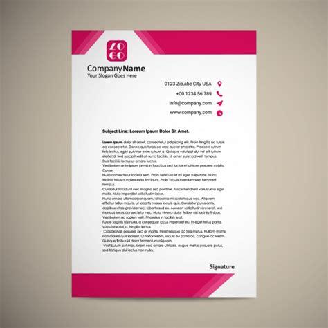 letterhead template design vector