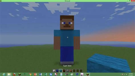 How To Make A Minecraft Steve Out Of Paper - how to build a minecraft steve statue