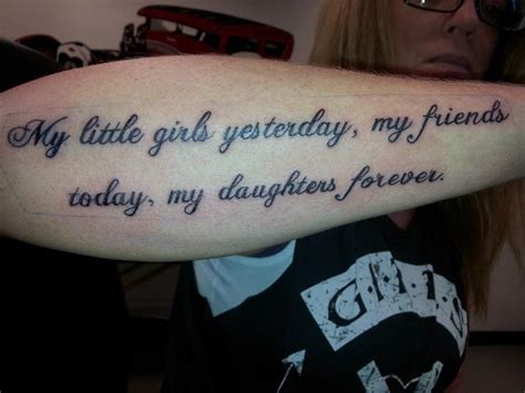 tattoo quotes for my daughter little girls mother daughter quote tattoo forearm girlie